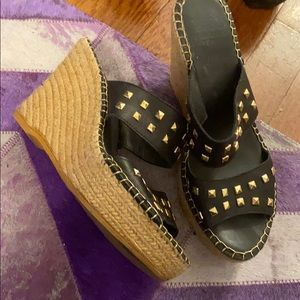 Studded wedges size 39